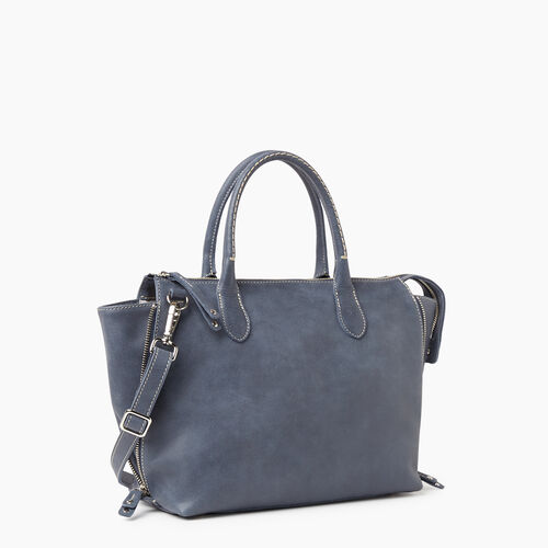 Roots-Leather Handbags-Arianna Bag Tribe-Navy-A
