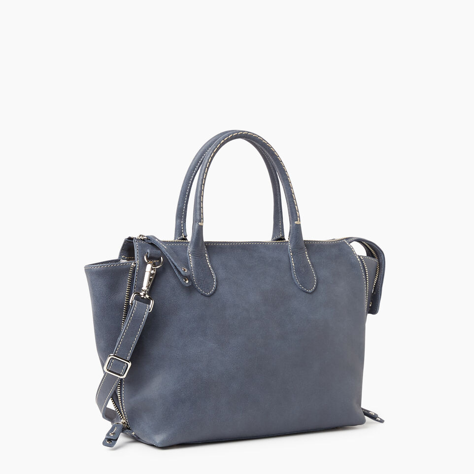 Roots-Leather New Arrivals-Arianna Bag Tribe-Navy-A