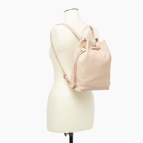 Roots-Leather Our Favourite New Arrivals-Sherbrooke Backpack-Pink Mist-B