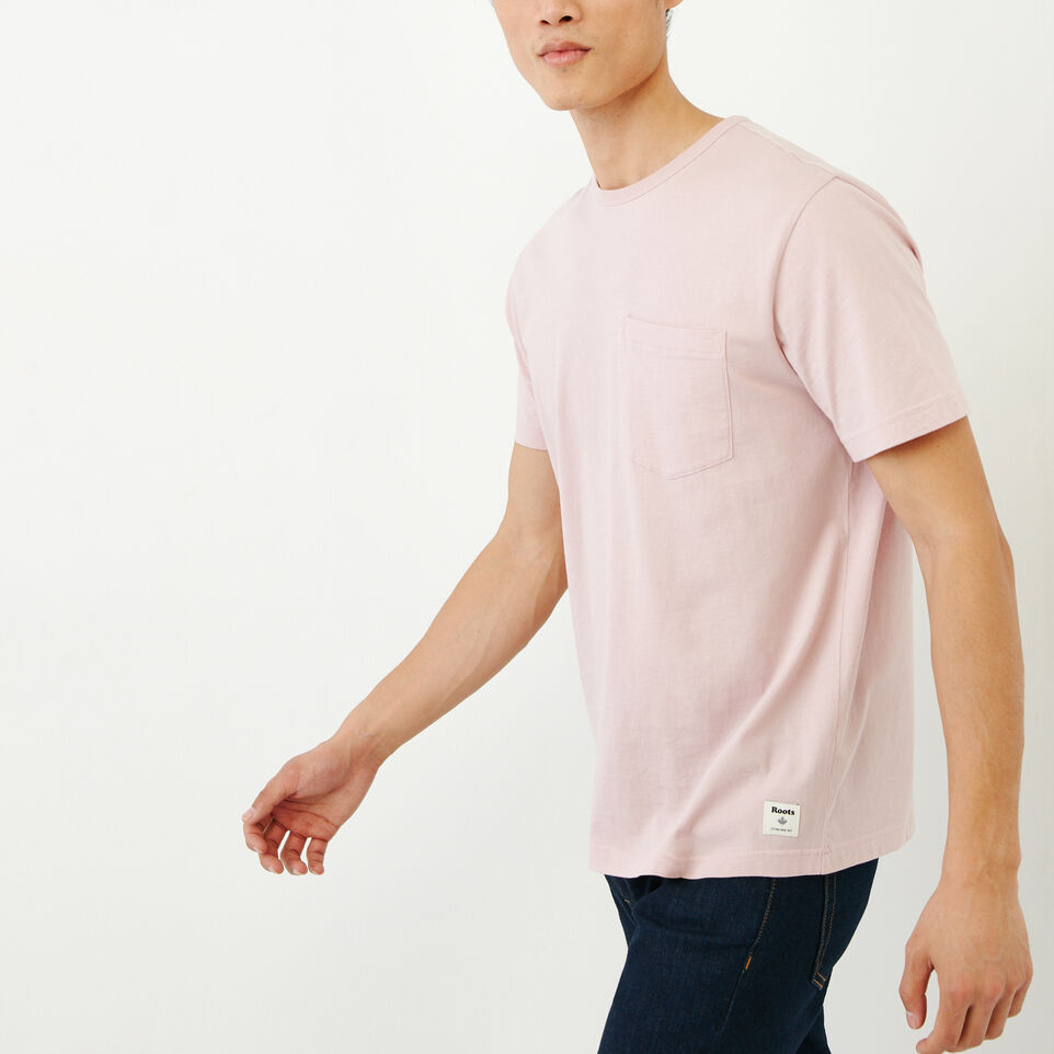 Roots-Men Our Favourite New Arrivals-Essential Pocket T-shirt-Burnished Lilac-C