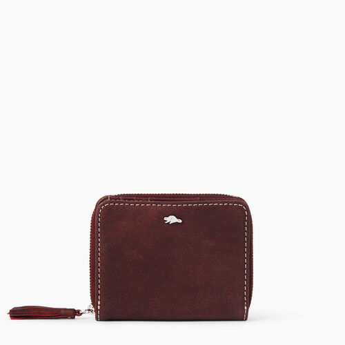 Roots-Winter Sale Leather Bags & Accessories-Small Tassel Wallet Tribe-Crimson-A