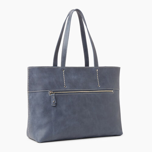 Roots-Leather Totes-Westmount Tote Tribe-Navy-A