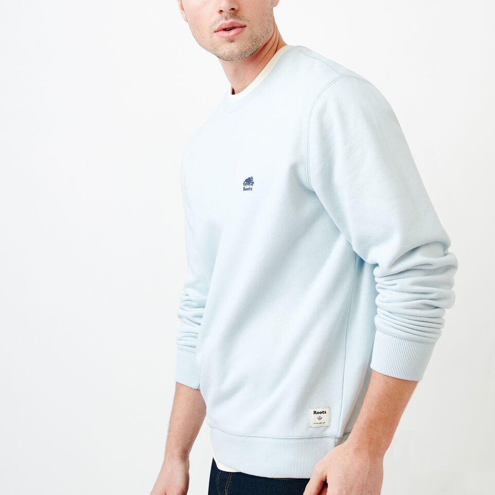 Roots-Men Our Favourite New Arrivals-Cooper Crew Sweatshirt-Baby Blue-C
