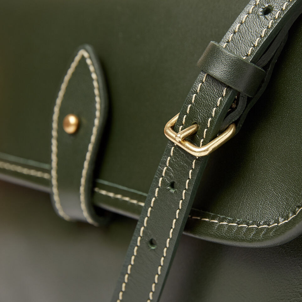 Roots-Clearance Leather-Sandys Bag Heritage-Hunter Green-E