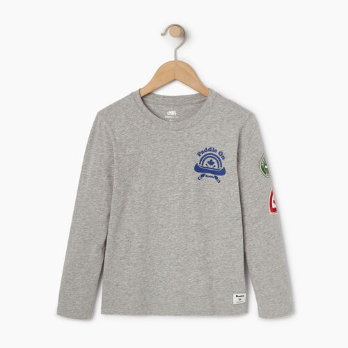 Roots-Kids Our Favourite New Arrivals-Boys Paddle On T-shirt-Grey Mix-A