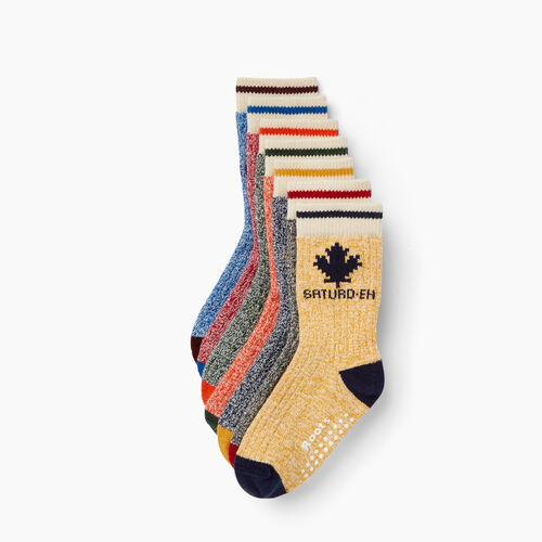 Roots-Kids Our Favourite New Arrivals-Toddler Days Sock 7 Pack-Multi-A