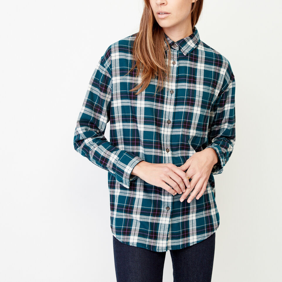 Roots-Women Our Favourite New Arrivals-Alaina Boyfriend Shirt-Shaded Spruce-A