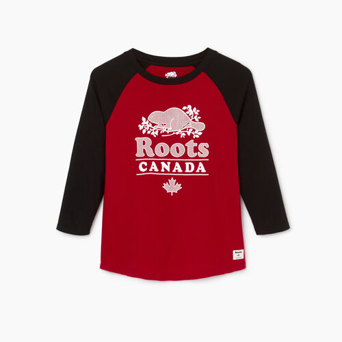 Roots-Women Our Favourite New Arrivals-Womens Cabin Baseball Slim T-shirt-Cabin Red-A