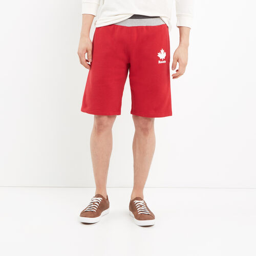 Roots-Men Shorts-Canada Cabin Shorts-Sage Red-A