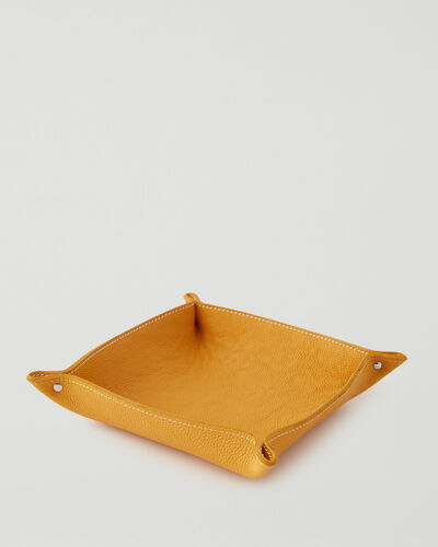 Roots-Leather Leather Accessories-Large Leather Tray Cervino-Sunflower-A