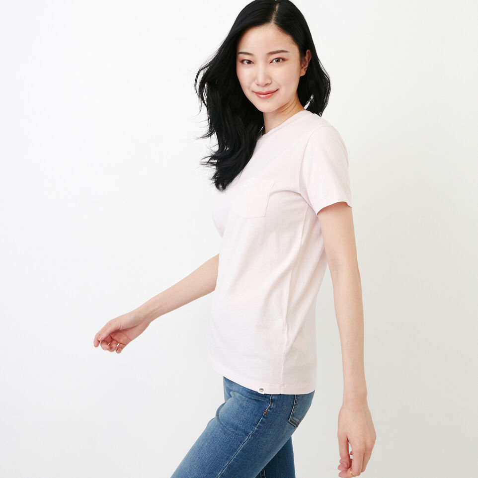 Roots-Women Clothing-Essential T-shirt-Cradle Pink-C