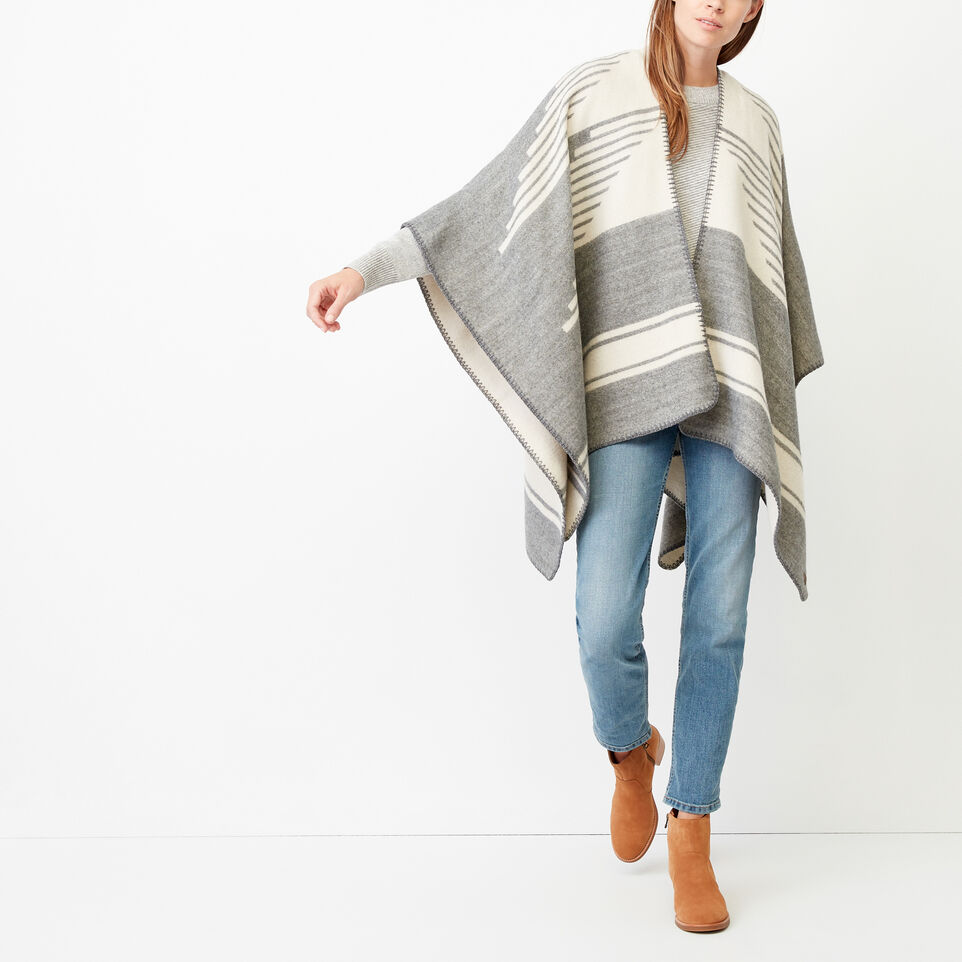 Roots-Women Our Favourite New Arrivals-Tolman Wrap-Grey Mix-C