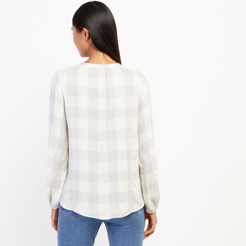 Roots-undefined-Park Plaid Peasant Top-undefined-D