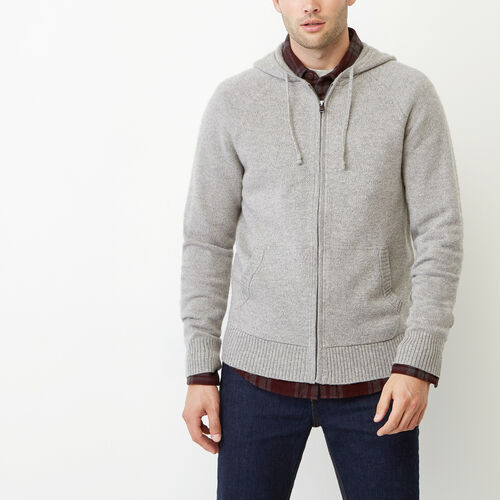 Roots-Men Our Favourite New Arrivals-Luxe Sweater Zip Hoody-Grey Mix-A