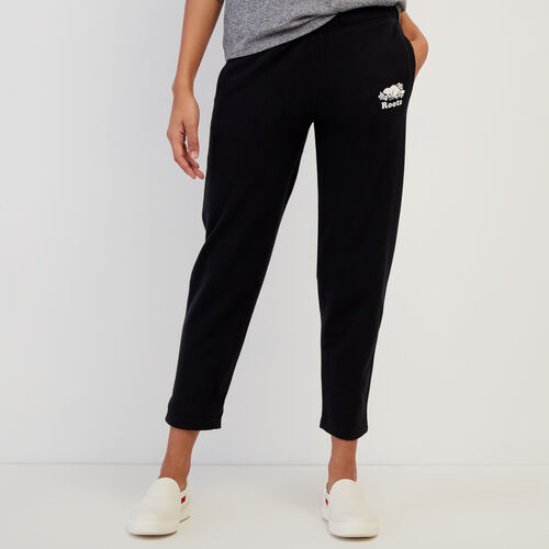 Roots-New For June Work From Home-Easy Ankle Sweatpant-Black-A