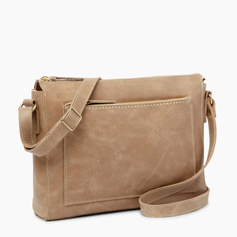 Roots-Leather  Handcrafted By Us Handbags-Robson Bag-Sand-A
