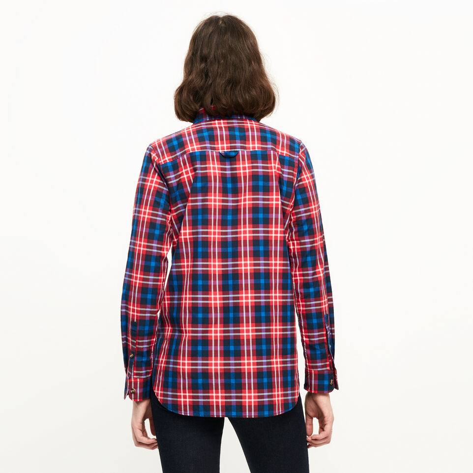 Roots-Clearance Women-Brookside Poplin Shirt-Lollipop-D