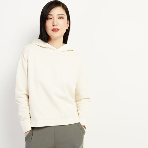 Roots-Sweats Women-Eramosa Cropped Hoody-Vapourous Gray-A