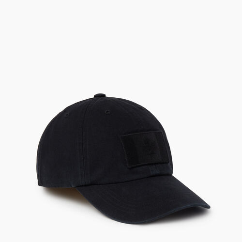 Roots-Men Accessories-Stealth Flag Baseball Cap-Black-A