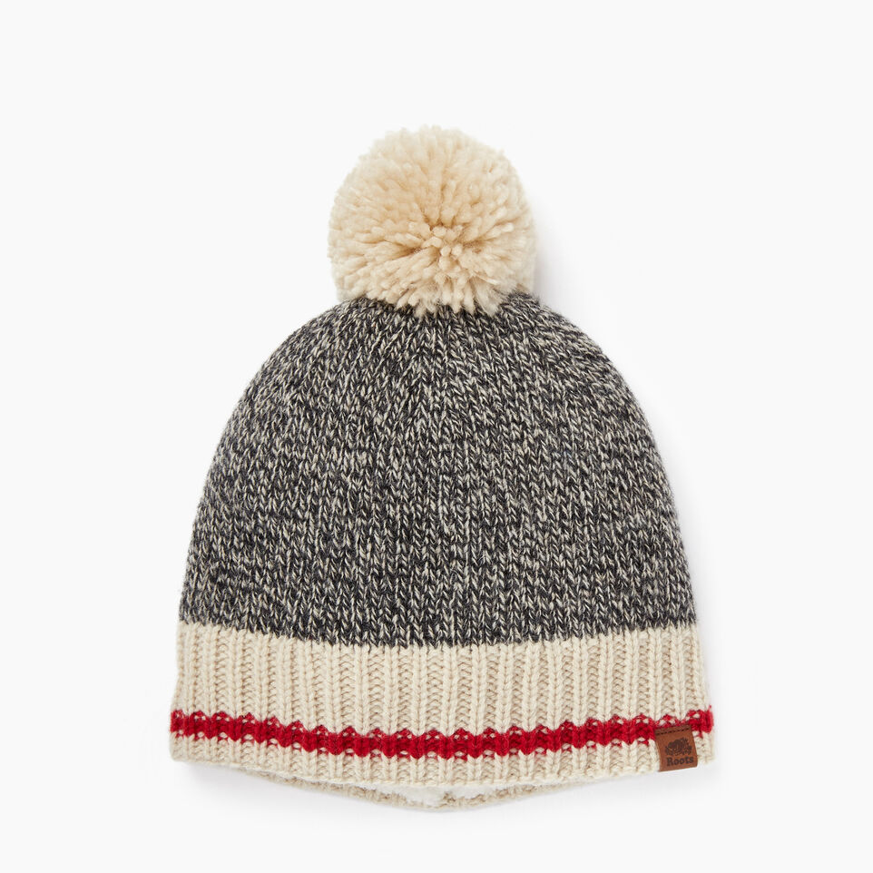 Roots-Women Accessories-Roots Cabin Pom Pom Toque-Grey Oat Mix-A ... eec9cffc4