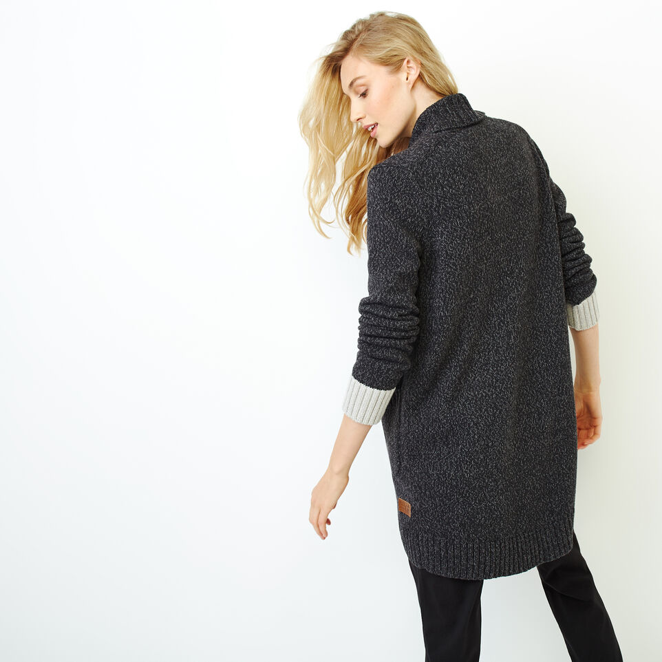 Roots-Women Sweaters & Cardigans-Roots Cotton Cabin Cardigan-Black Mix-D