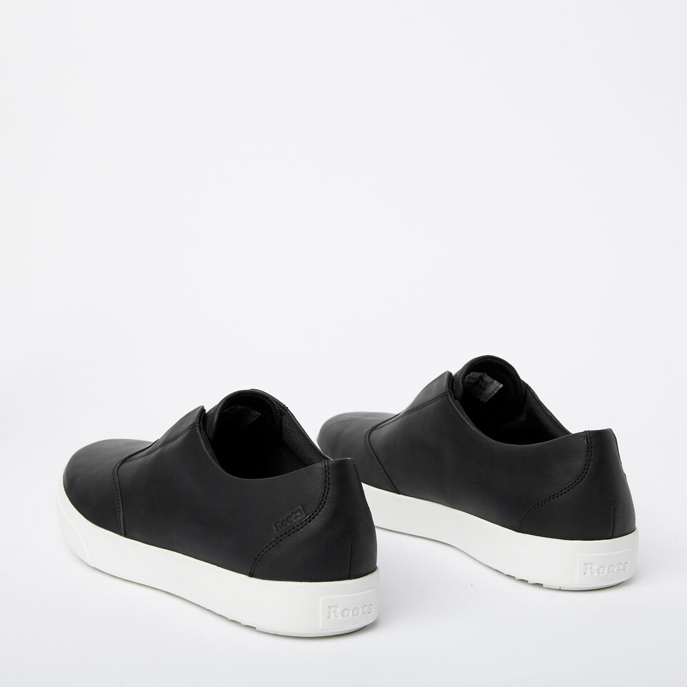 Roots-Clearance Footwear-Mens Valley Slip On-Black-C