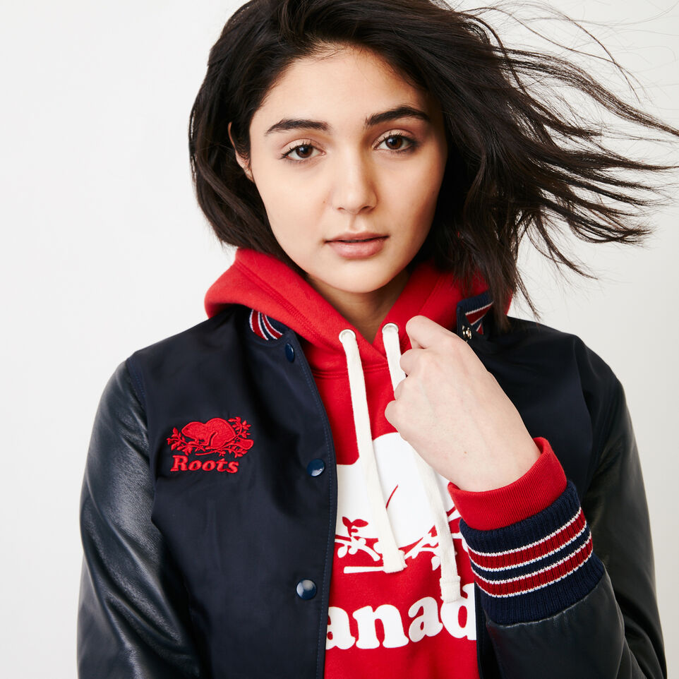 Roots-Women Canada Collection By Roots™-Womens Cooper Canada Hoody-Sage Red-E