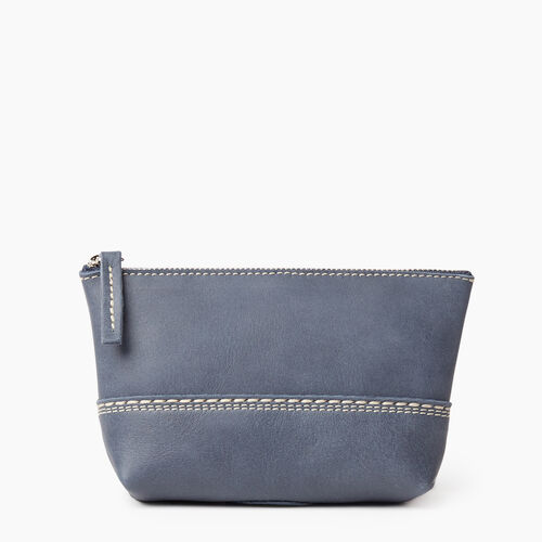 Roots-Leather New Arrivals-Small Canmore Pouch Tribe-Navy-A