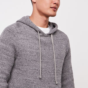 Roots-Men Sweaters & Cardigans-Cape Sweater Hoody-Sharkskin Mix-A