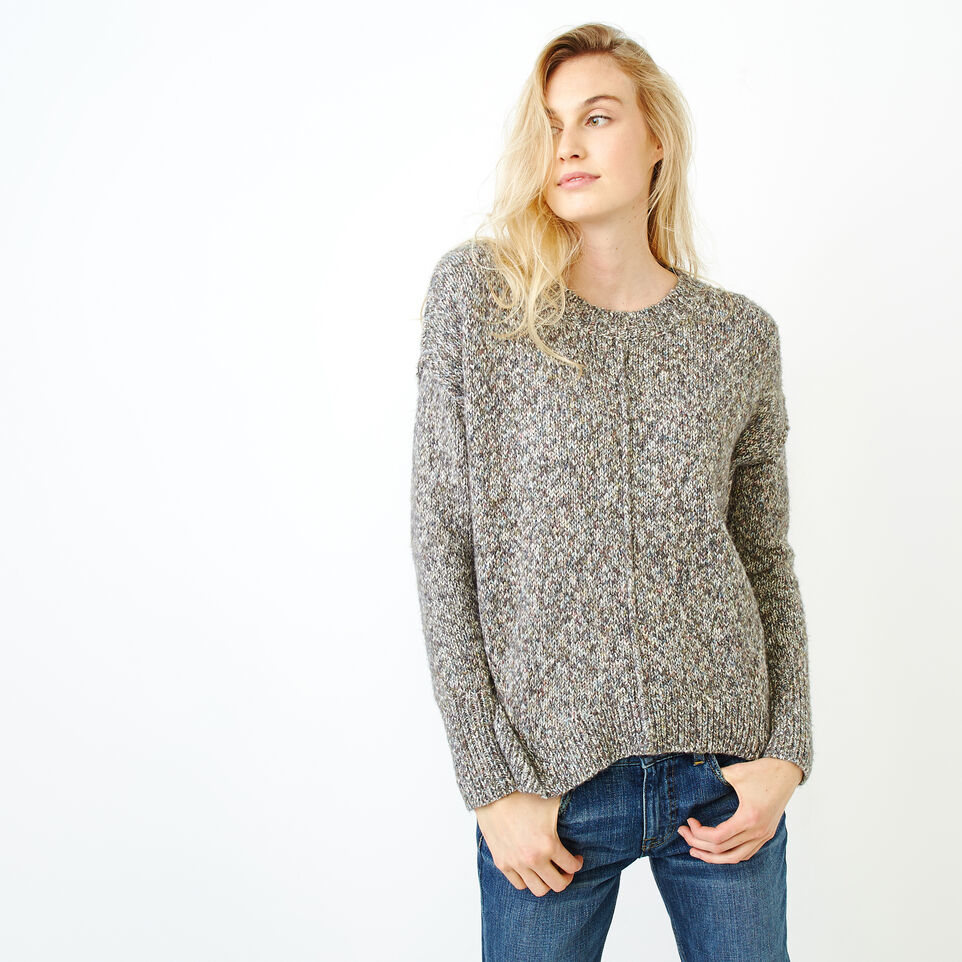 Roots-Women Sweaters & Cardigans-Moss Crew Sweater-Charcoal Mix-A