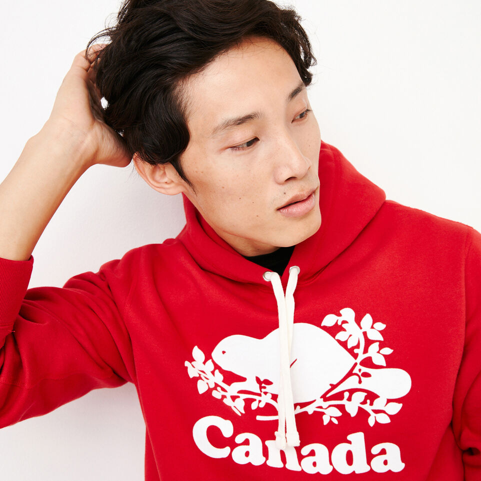 Roots-Gift Guide Canada Collection By Roots™-Mens Cooper Canada Hoody-Sage Red-E