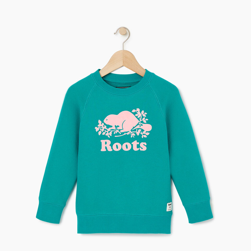 Roots-Kids New Arrivals-Toddler Original Crewneck Sweatshirt-Dynasty Turquoise-A