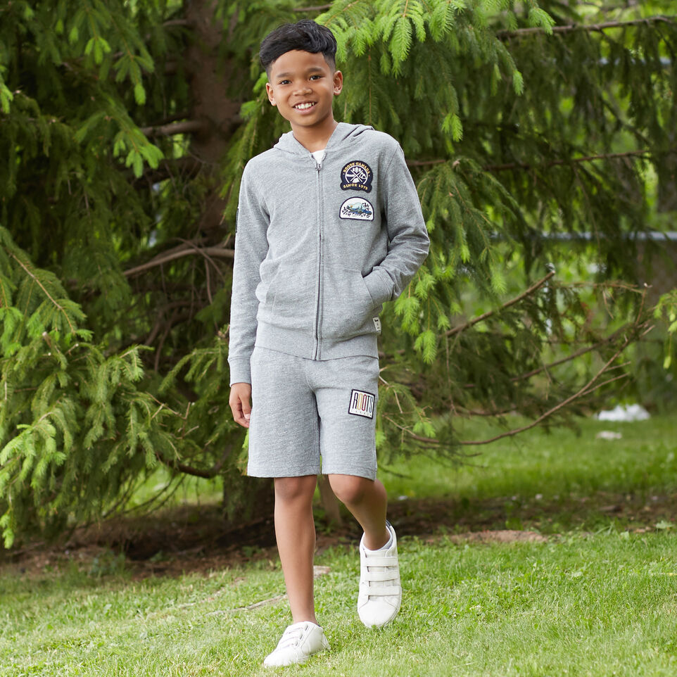 Roots-undefined-Boys Camp Patch Full Zip Hoody-undefined-E