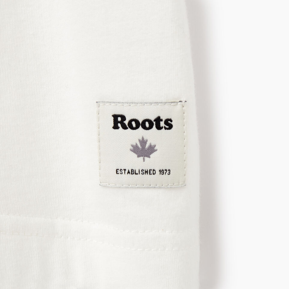 Roots-New For August Men-Mens Roots Decal T-shirt-Ivory-C