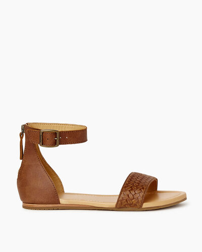 Roots-Footwear Sandals-Womens Cranston Ankle Strap Sandal-Natural-A