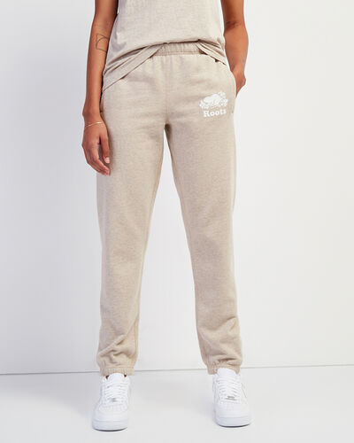 Roots-Women Bottoms-Original Sweatpant-Flaxseed Mix-A