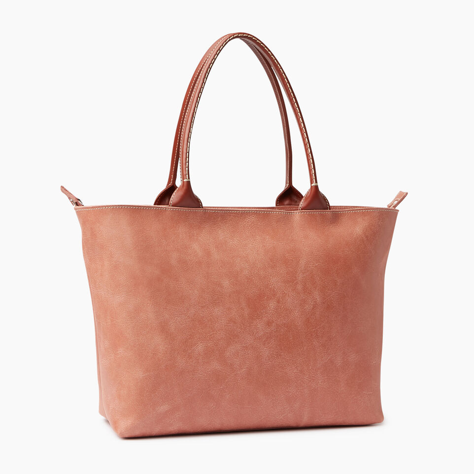 Roots-Leather Our Favourite New Arrivals-Mont Royal Tote-Canyon Rose/oak-C