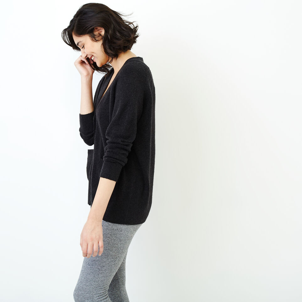 Roots-Women Our Favourite New Arrivals-Hemlock Button Cardigan-Black Mix-C