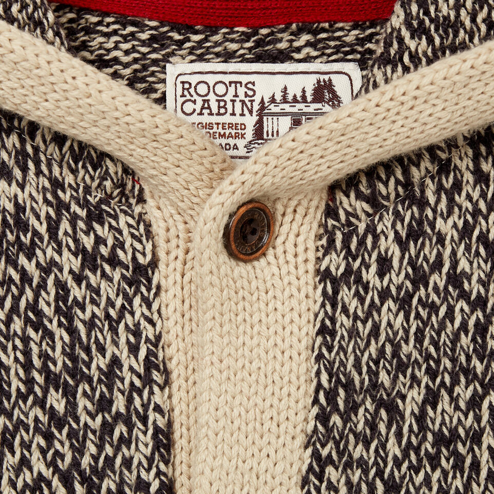 Roots-Kids Baby Girl-Baby Roots Cabin Cardigan-Grey Oat Mix-C
