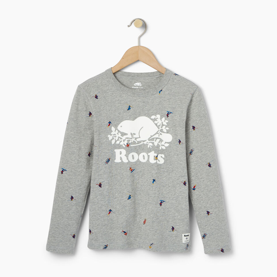 Roots-Kids Our Favourite New Arrivals-Boys Skier AOP T-shirt-Grey Mix-A