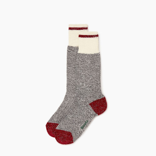 Roots-Women Socks-Roots Cabin Sparkle Sock 2 Pack-Grey Mix-A