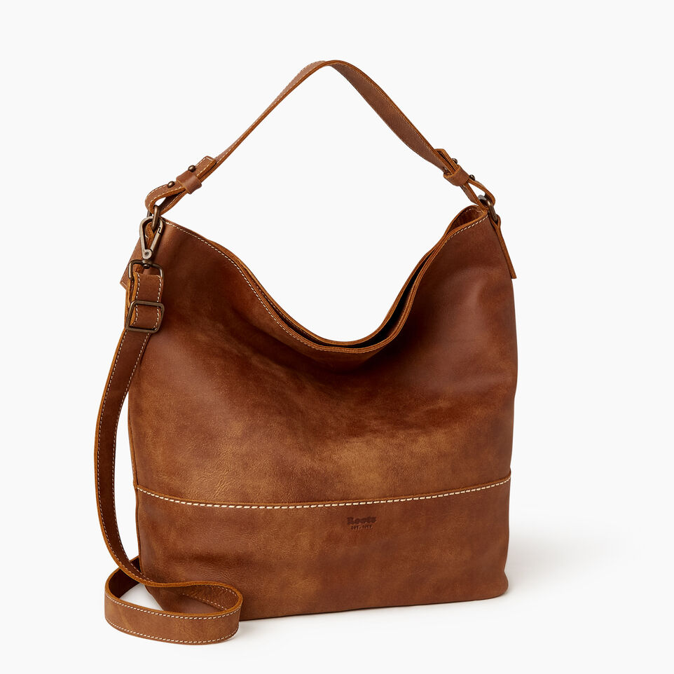 Roots-Leather  Handcrafted By Us Our Favourite New Arrivals-West End Hobo-Natural-C