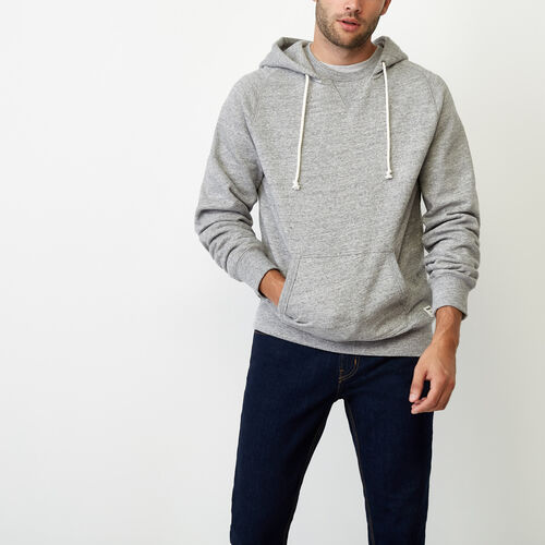 Roots-Winter Sale Men-40s Kanga Hoody-Grey Pepper Mix-A