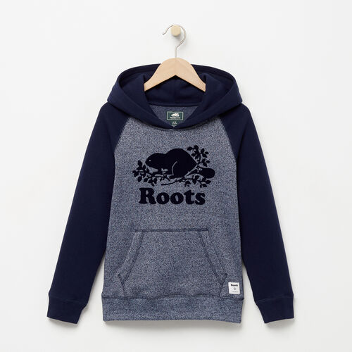 Roots-Kids Sweats-Boys Original Kanga Hoody-Navy Blazer Pepper-A