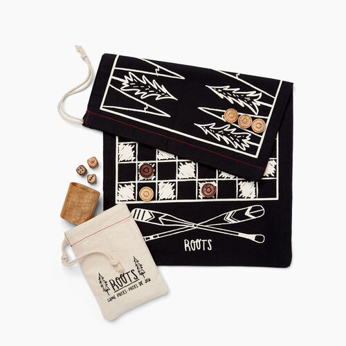 Roots-New For November General Store-Travel Game Kit-Black-A