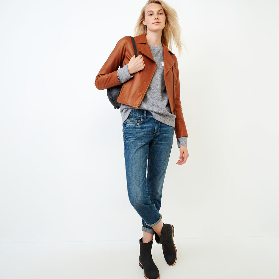 Roots-Leather Leather Jackets-Shay Jacket Vegetal-Tan-B