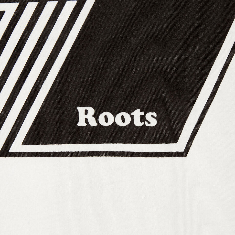 Roots-New For May Men-Mens Roots Decal T-shirt-Ivory-D