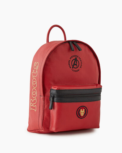Roots-New For This Month Shop By Character-Avengers Iron Man Leather Backpack-Red-A