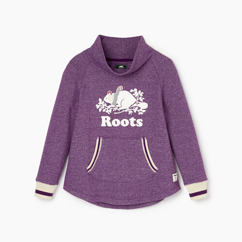 Roots-New For November Kids-Girls Buddy Cozy Fleece Pullover-Grape Royale Pepper-A