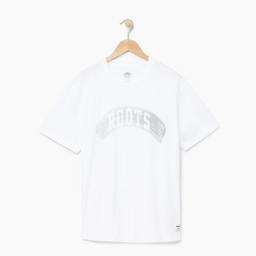 Roots-Men Graphic T-shirts-Mens Brushed Arch T-shirt-Crisp White-A